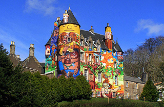 Visit the colourful Kelburn Castle before it's gone