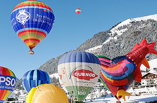 International Hot Air Balloon Festival in Switzerland