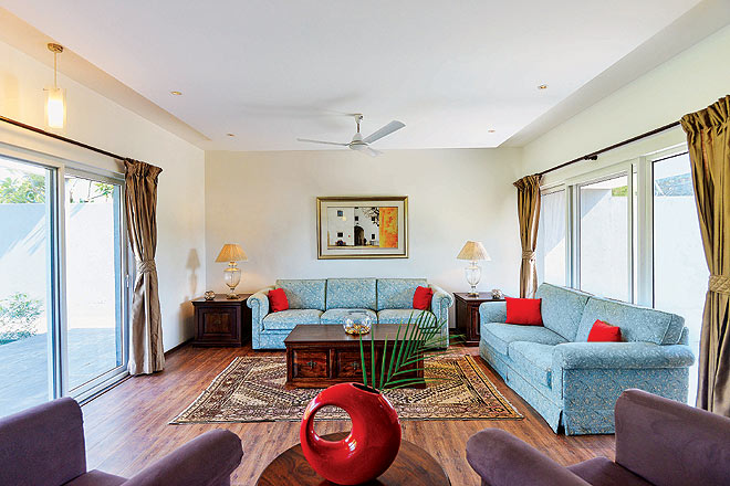Private living area at Aalia