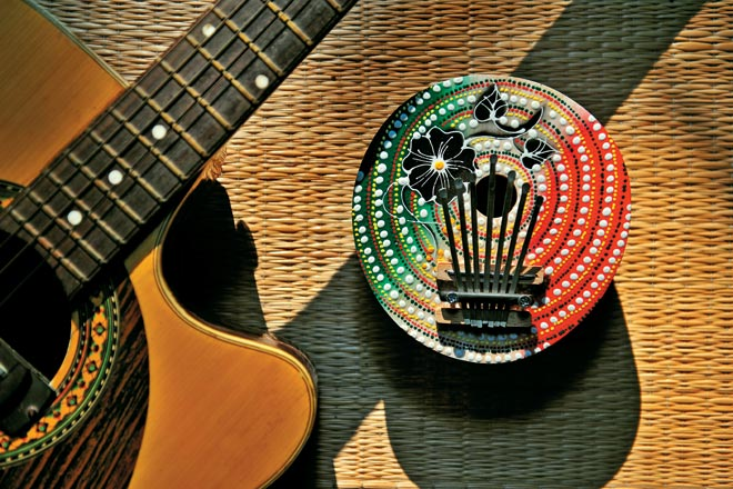 Kalimba or the thumb piano from Ubud, Bali