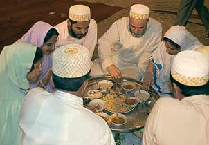 The distinctive and delicious Bohra food