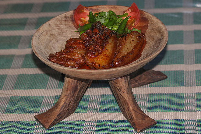 Naga food naga cuisine dishes from nagaland outlook traveller pork cooked with bamboo shoota popular dish from kohimas orami restaurant forumfinder Choice Image