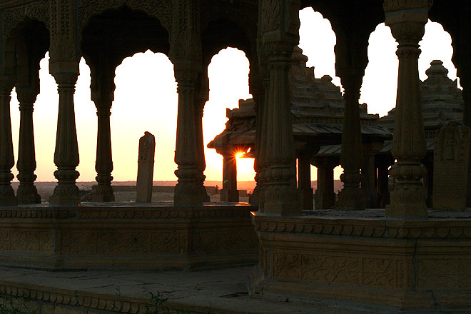 Watch the sunset from Bada Bagh