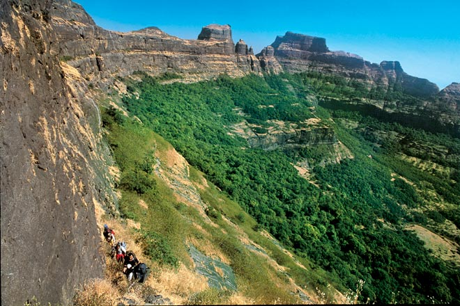 The Ambewadi-Alang-Madan stretch is a thrilling combination of dense jungles, steep slopes and vertical rock patches