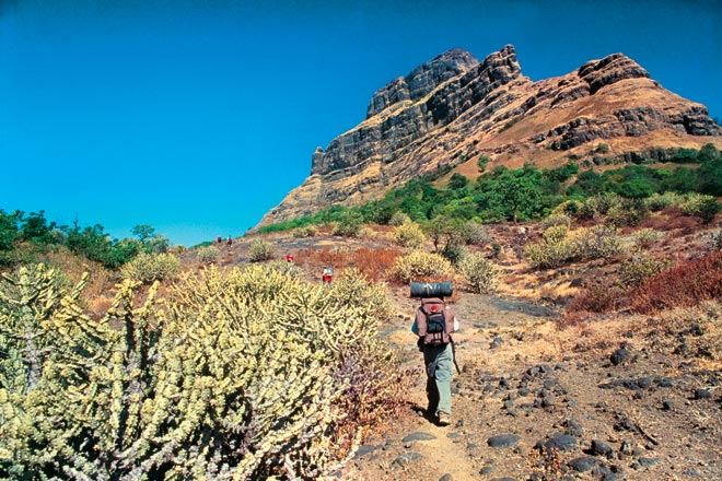 Beginning the trek to Alang Fort from Ambewadi