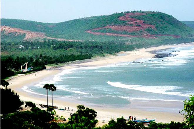 A picturesque view of the Bhimili Beach