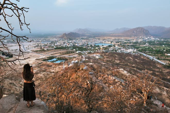 View of Pushkar from Savitri Temple