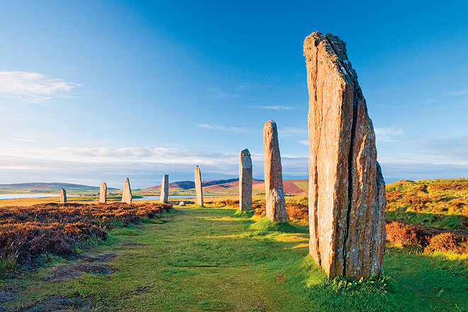 The Ring of Brodgar is a Neolithic henge and stone circle