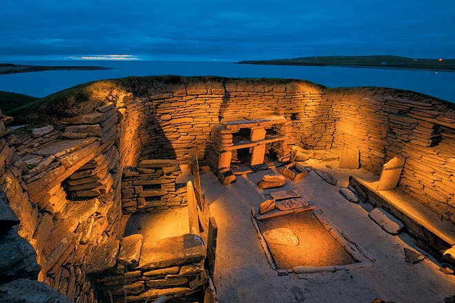 Skara Brae is an underground stone village discovered in 1850
