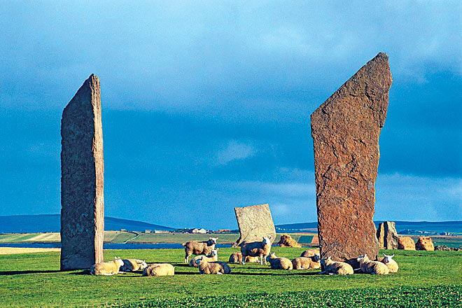 The Standing Stones of Stenness are a sight to behold