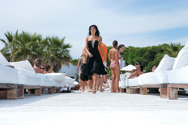 Glamour central: at a jetty in St Tropez