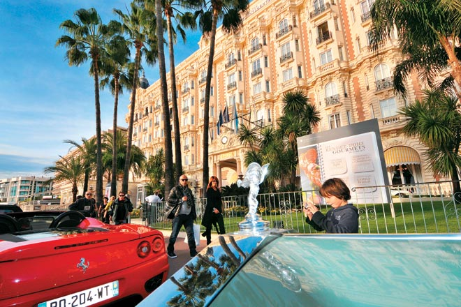 The facade of Cannes' famous Carlton