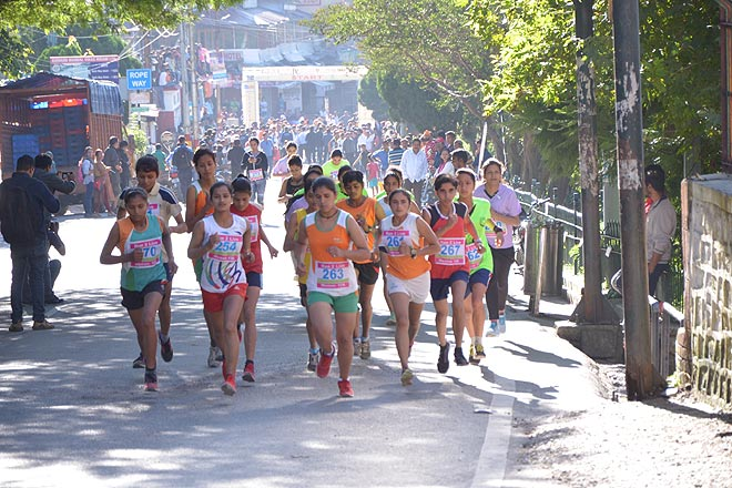 Namah Nainital Mountain Monsoon Marathon runners