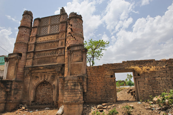 Ruins of the medieval fort at Chanderi