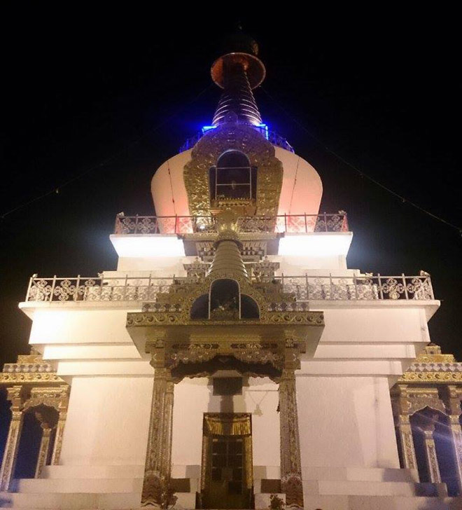 Memorial Chorten at night