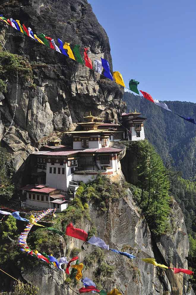 Taktsang Monastery or the Tiger's Nest in Paro