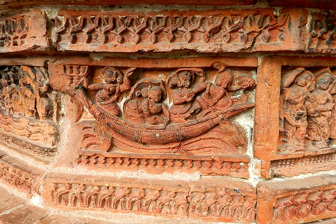 Carvings on the Ananta Vasudeva Temple
