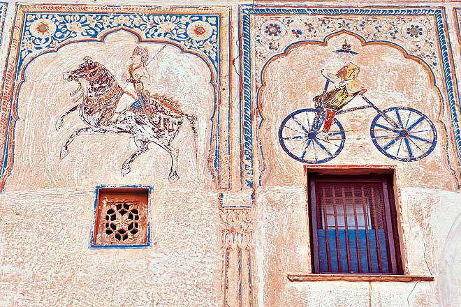 Painted Walls at Shekhawati
