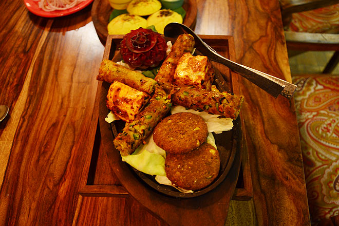 Assortment of kababs