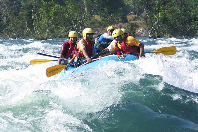 White water rafting on the Mhadei River, Goa