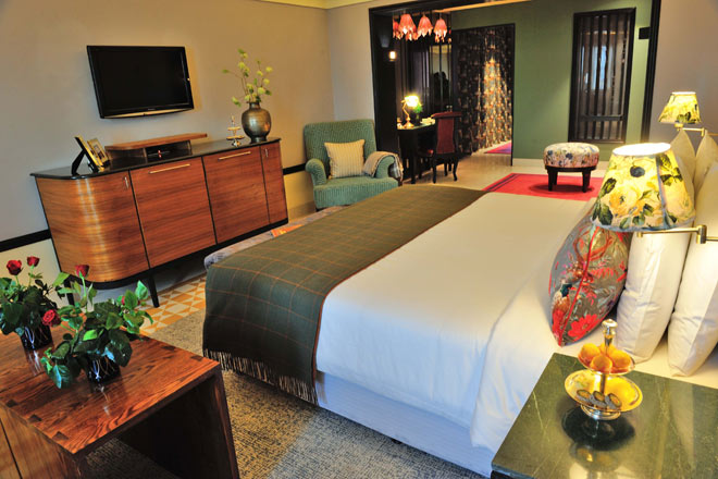 A luxurious suite at Narendra Bhawan