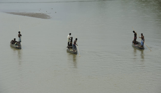Fishermen on the Gomati River outside Udaipur