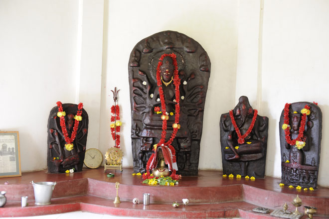 Ancient statues of Buddhist deities being worshipped as Hindu ones in a village near Pilak