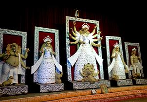 Glimpses of Durga Puja from C.R Park, New Delhi